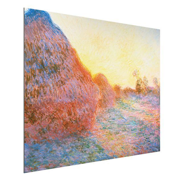Alu-Dibond Bild - Claude Monet - Strohschober im Sonnenlicht