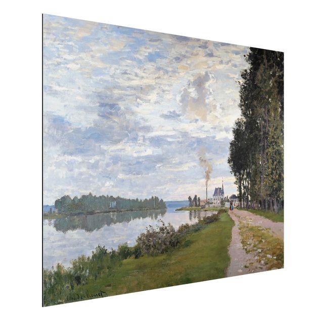 Alu-Dibond Bild - Claude Monet - Die Uferpromenade bei Argenteuil