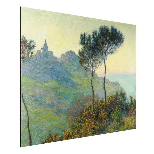 Alu-Dibond Bild - Claude Monet - Die Kirche von Varengeville bei Abendsonne