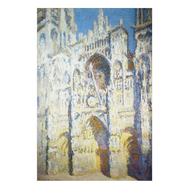 Alu-Dibond Bild - Claude Monet - Portal der Kathedrale von Rouen mit Turm Saint-Romain in voller Sonne
