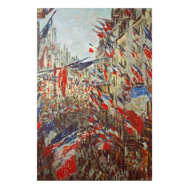 Alu-Dibond Bild - Claude Monet - Felsen, Étretat, Sonnenuntergang