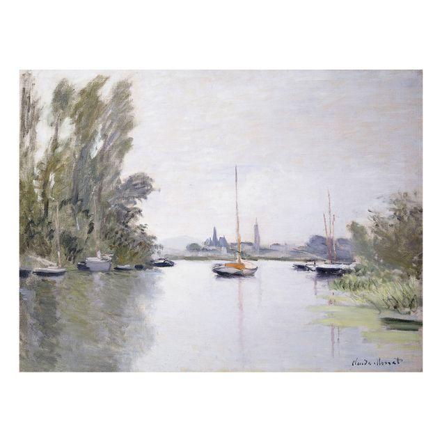 Alu-Dibond Bild - Claude Monet - Argenteuil, von einem kleinen Arm der Seine aus gesehen