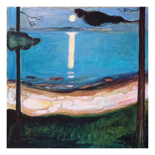 Alu-Dibond Bild - Edvard Munch - Mondnacht