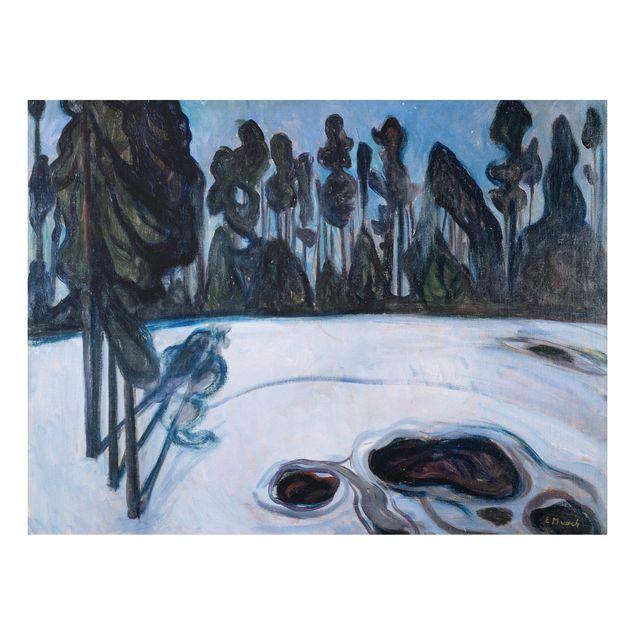 Alu-Dibond Bild - Edvard Munch - Sternennacht