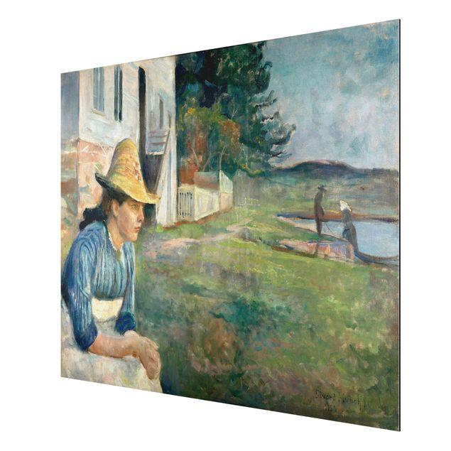 Alu-Dibond Bild - Edvard Munch - Abend
