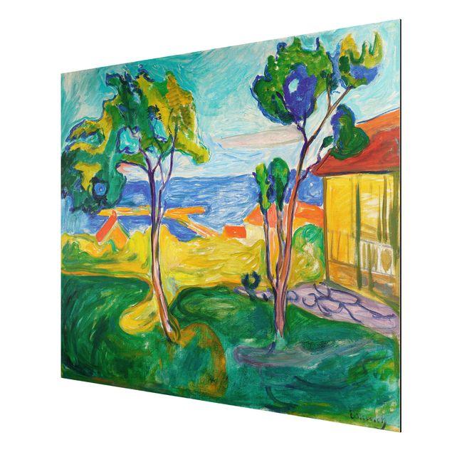 Alu-Dibond Bild - Edvard Munch - Der Garten in Åsgårdstrand