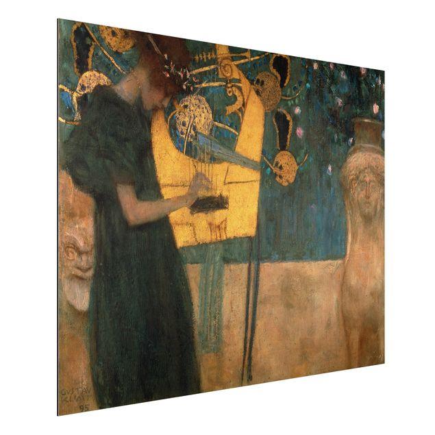 Alu-Dibond Bild - Gustav Klimt - Die Musik
