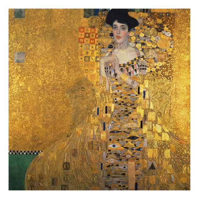 Alu-Dibond Bild - Gustav Klimt - Bildnis der Adele Bloch-Bauer I