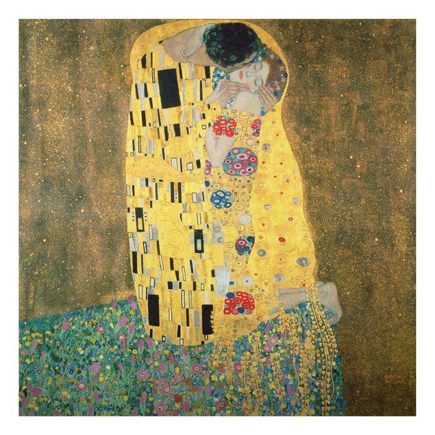 Alu-Dibond Bild - Gustav Klimt - Der Kuß