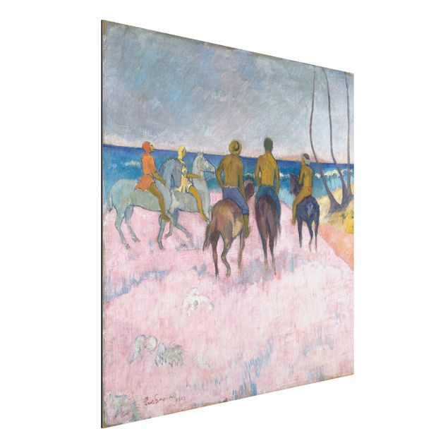 Alu-Dibond Bild - Paul Gauguin - Reiter am Strand (I)