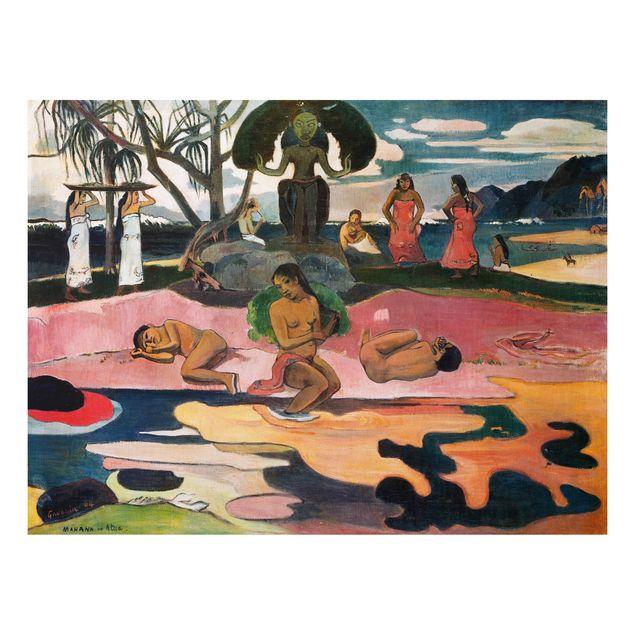 Alu-Dibond Bild - Paul Gauguin - Gottestag (Mahana No Atua)
