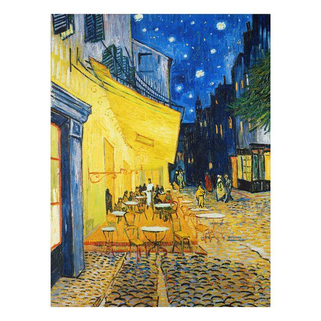 Alu-Dibond Bild - Vincent van Gogh - Café-Terrasse am Abend in Arles