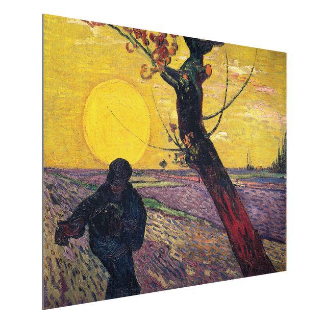 Alu-Dibond Bild - Vincent van Gogh - Sämann bei untergehender Sonne