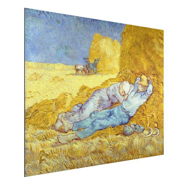 Alu-Dibond Bild - Vincent van Gogh - Das Mittagsschläfchen
