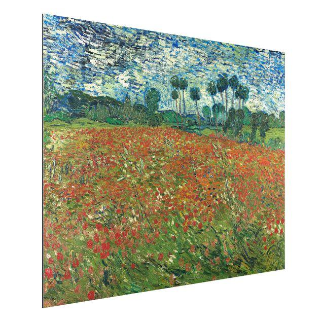Alu-Dibond Bild - Vincent van Gogh - Mohnfeld