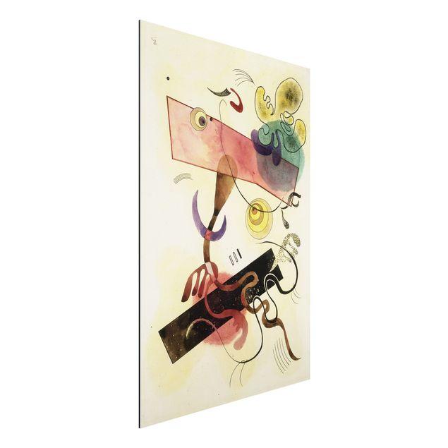Alu-Dibond Bild - Wassily Kandinsky - Taches: Verte et Rose (Flecken: Grün und Rosa)