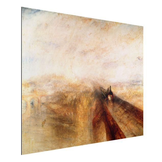 Alu-Dibond Bild - William Turner - Regen, Dampf und Geschwindigkeit