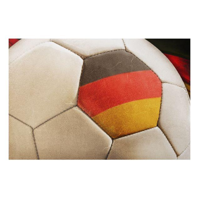 Alu-Dibond Bild - Vintage Fussball Deutschland