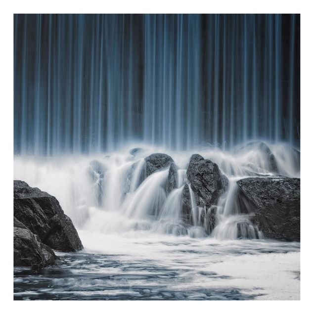 Alu-Dibond Bild - Wasserfall in Finnland