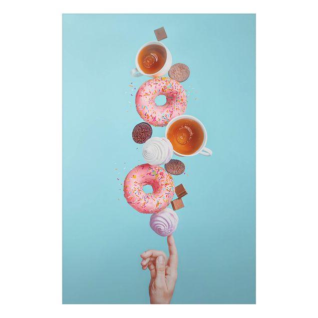 Alu-Dibond Bild - Weekend Donuts