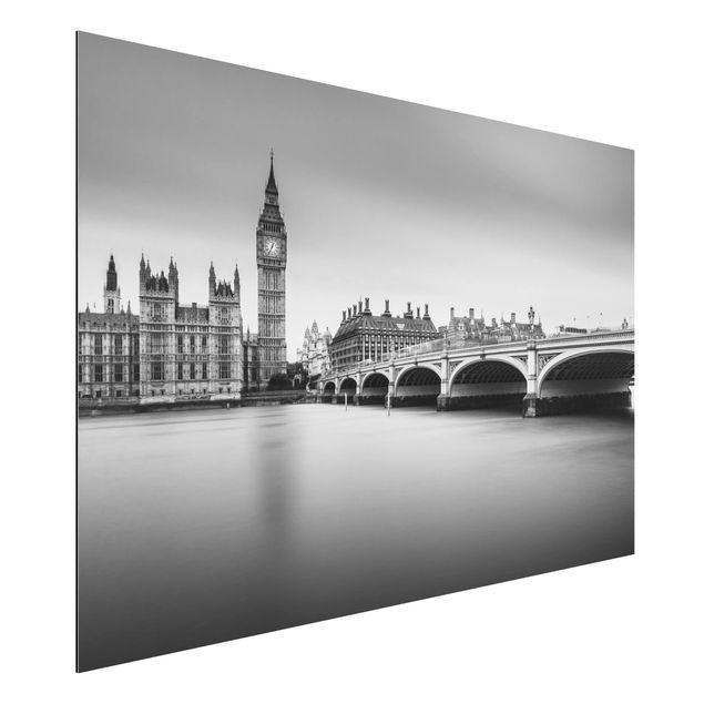 Aluminium Print - Westminster Brücke und Big Ben - Querformat 2:3