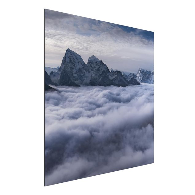 Aluminium Print - Wolkenmeer im Himalaya - Quadrat 1:1