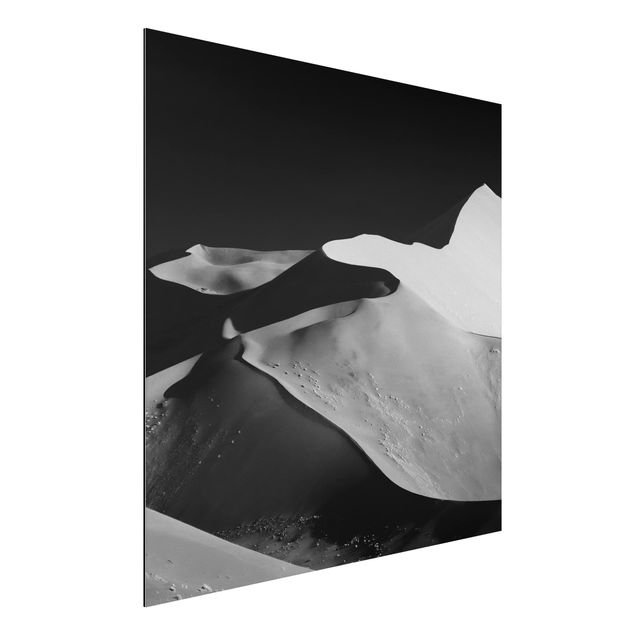 Aluminium Print - Wüste - Abstrakte Dünen - Quadrat 1:1