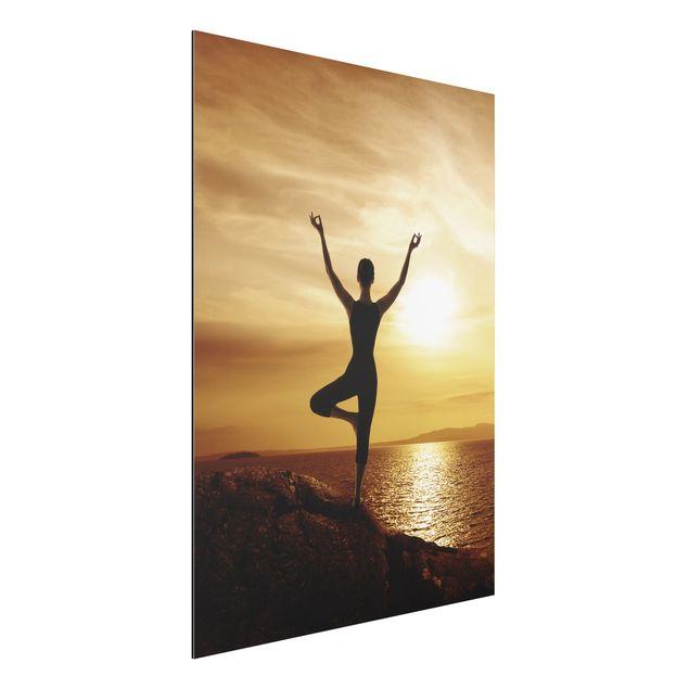 Alu-Dibond Bild - Yoga