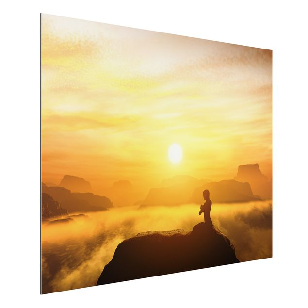 Alu-Dibond Bild - Yoga Meditation