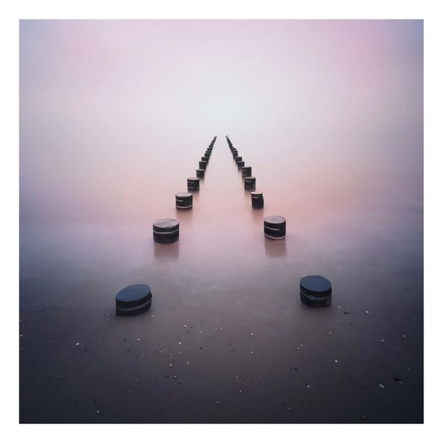 Aluminium Print - Zen am Strand - Quadrat 1:1