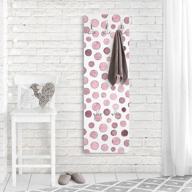 Garderobe - Aquarell Blasen in Altrosa