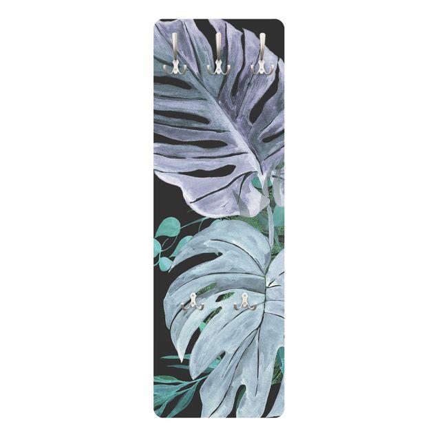 Garderobe - Aquarell Tropisches Arrangement Farbenspiel