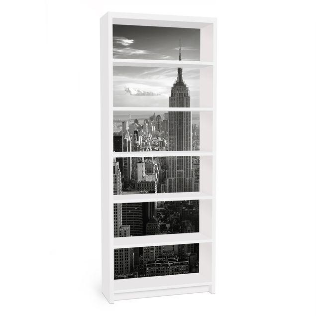 Möbelfolie für IKEA Billy Regal - Klebefolie No.34 Manhattan Skyline Panorama