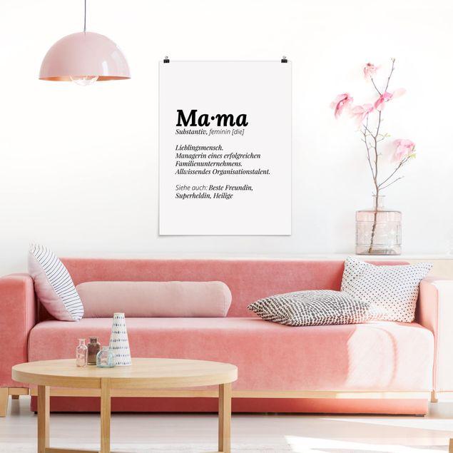 Poster - Die Definition von Mama - Hochformat 3:4