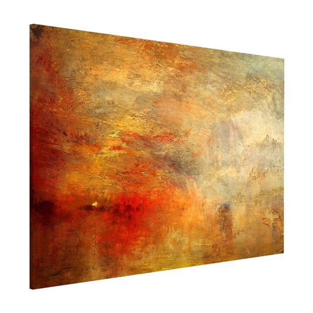Magnettafel - Joseph Mallord William Turner - Sonnenuntergang über einem See - Memoboard Querformat 3:4