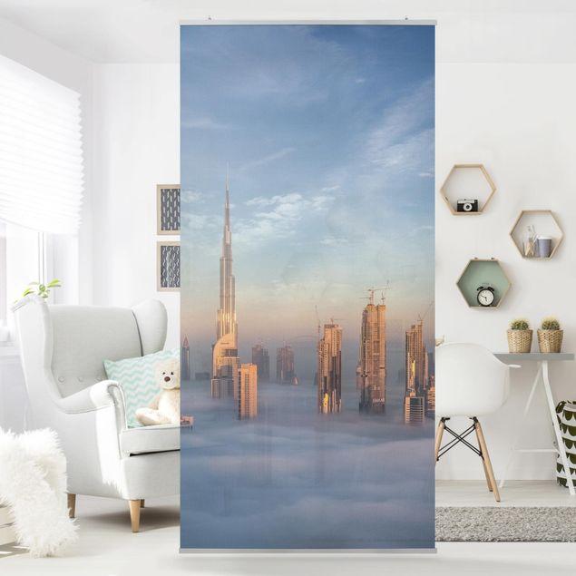 Raumteiler - Dubai über den Wolken - 250x120cm