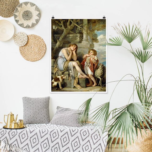 Poster - Jean Baptiste Greuze - L'Agneau Chéri - Hochformat 3:4