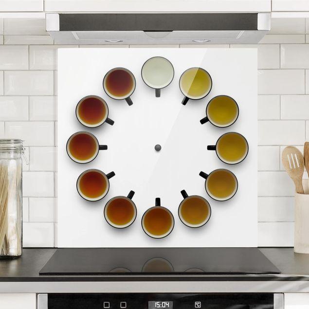 Glas Spritzschutz - Tea Time - Quadrat - 1:1