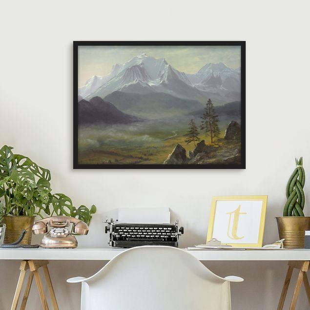 Bild mit Rahmen - Albert Bierstadt - Mont Blanc - Querformat 3:4