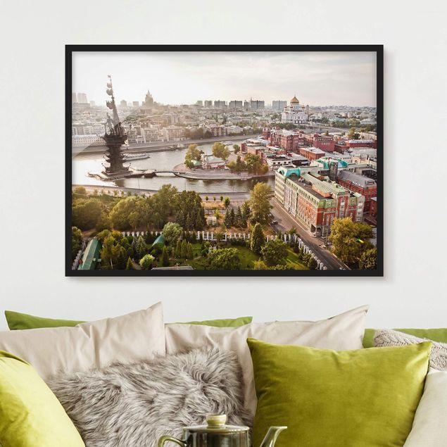 Bild mit Rahmen - City of Moscow - Querformat 3:4