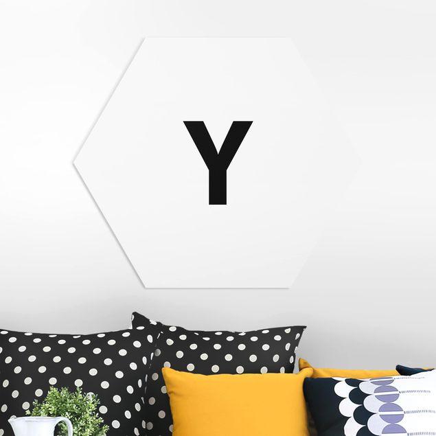Hexagon Bild Forex - Buchstabe Weiß Y
