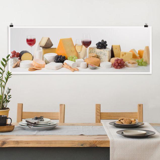 Poster - Käse-Variationen - Panorama Querformat