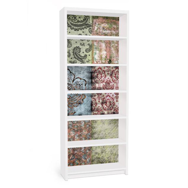 Möbelfolie für IKEA Billy Regal - Klebefolie Old Patterns