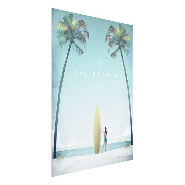 Forex Fine Art Print - Reiseposter - California - Hochformat 4:3