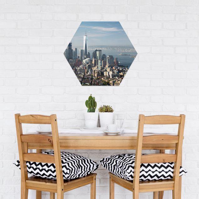 Hexagon Bild Forex - Blick vom Empire State Building