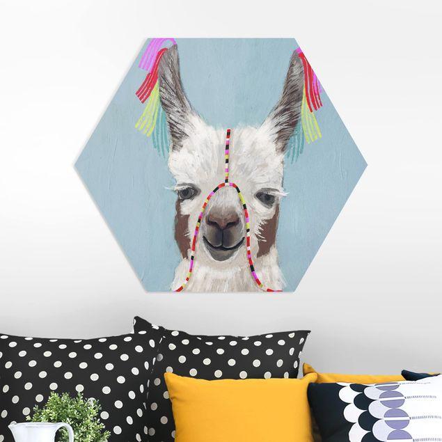 Hexagon Bild Forex - Lama mit Schmuck III