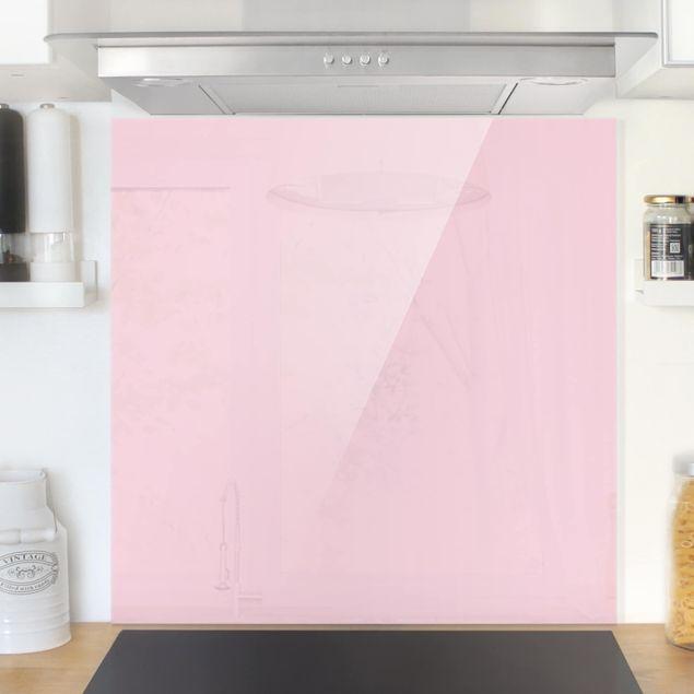 Glas Spritzschutz - Rosé - Quadrat - 1:1