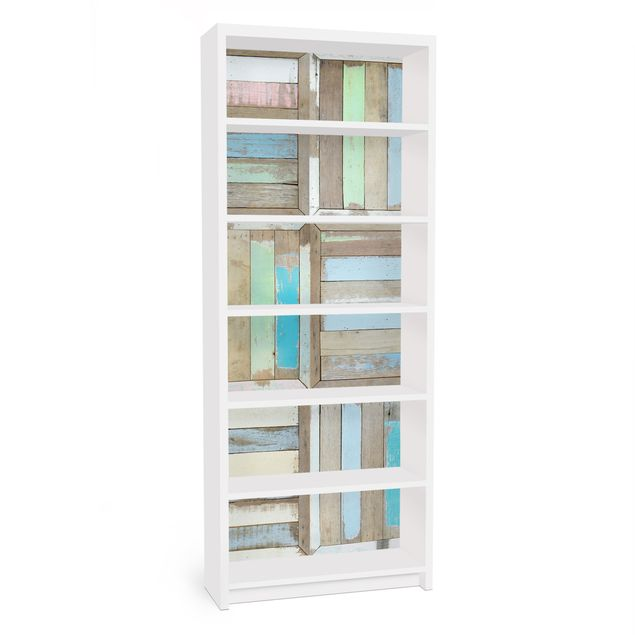 Möbelfolie für IKEA Billy Regal - Klebefolie Rustic Timber