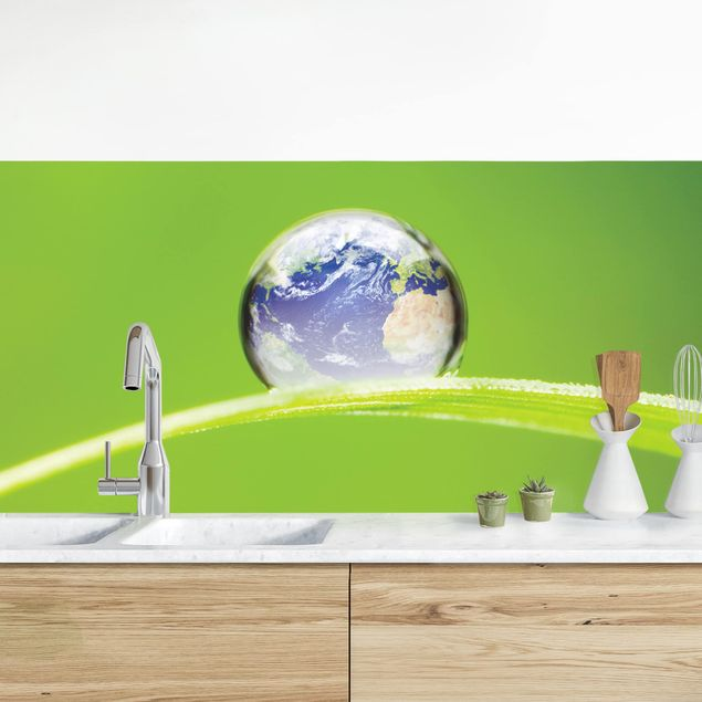Küchenrückwand - Grüne Hoffnung