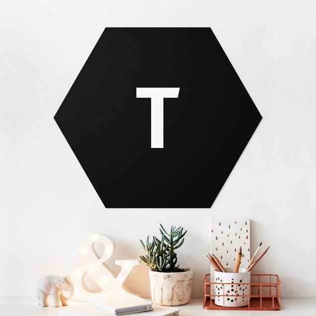 Hexagon Bild Forex - Buchstabe Schwarz T